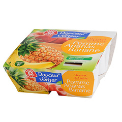 Compote Douceur du Verger Pomme ananas banane 4x100g