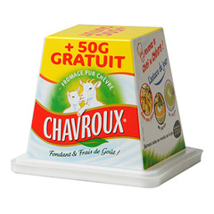 Fromage chevre frais Chavroux 48%mg 150g