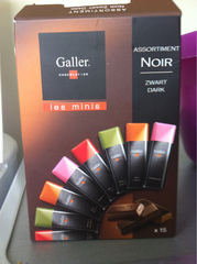 Assortiment mini chocolats noirs