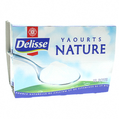 Yaourts Delisse Nature 12x125g