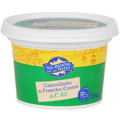 Fromage Cancouillotte ail 12%mg Nos Regions ont du Talent 250g