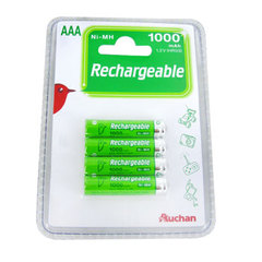PILES RECHARGEABLES NI-MH AAA X4 AUCHAN