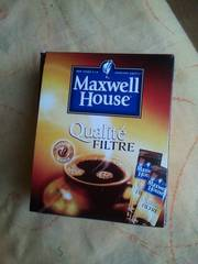 Cafe soluble Qualite Filtre MAXWELL House, 25 dosettes, 50g