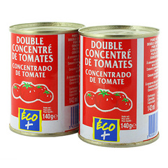Double concentre tomates Eco+ 2x140g