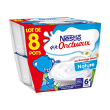 p'tit onctueux fromage blanc nature nestle 8x100g