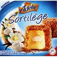 Sortilege - domes glace vanille grains praline, meringue, la boite de 4 - 520ml