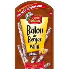 Justin Bridou Baton berger mini noix 100g