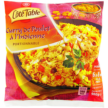 Curry Poulet a L'Indienne Cote Table 900g