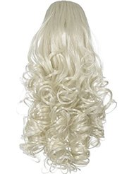 Love Hair Extensions - LHE/N/CURLY/CC/22 - Prime de Fibres Synthétiques - Curly Pince Crocodile - Queue de Cheval...