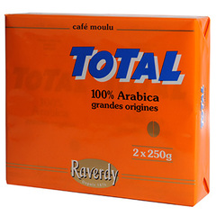 Cafe moulu Total Raverdy 100% arabica 2x250g