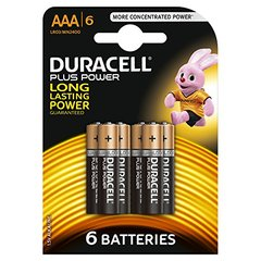 Piles LR03 Duralock Plus Power DURACELL, 6 unités