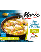 Duo Cabillaud & Crevettes sauce Curry Coco