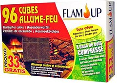 Flam'Up 0700 Allume-feu naturel Bois compresse 96 Cubes