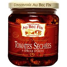 Tomates sechees a l'huile d'olive AU BEC FIN, 180g