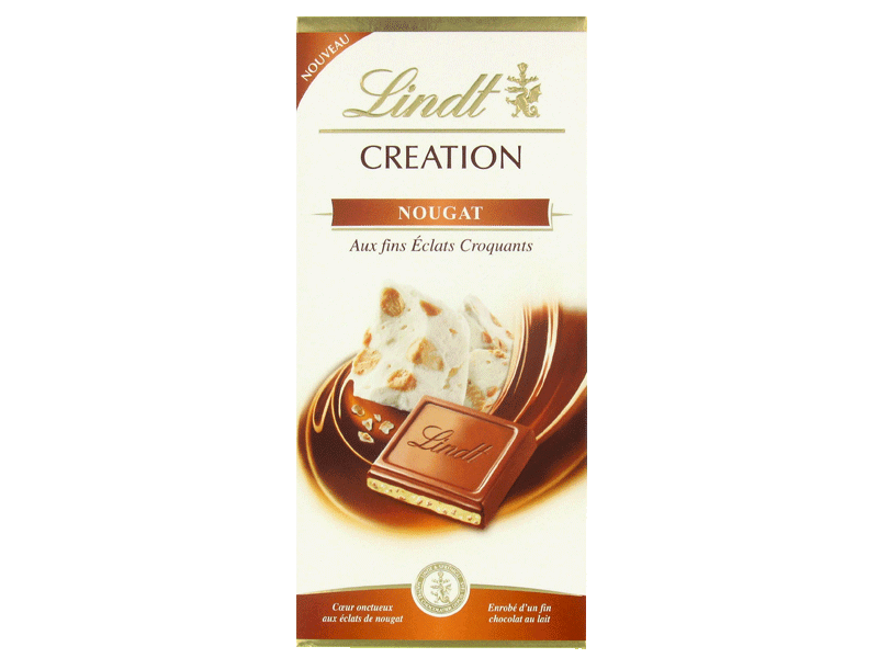 Chocolat creation Lindt Lait nougat 150g