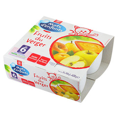 Compotes Fruits du Verger 6 mois 4x100g