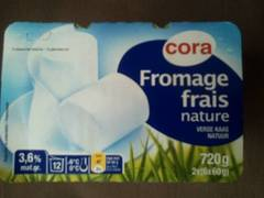 Cora fromage frais nature 20%mg 12 x 60g