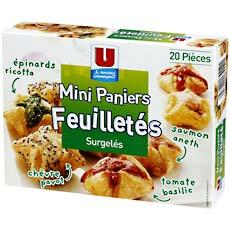 Mini paniers feuilletes varies U, 20 pieces, 280g
