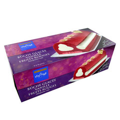 BUCHE GLACEE VANILLE/FRUITS ROUGES LENÔTRE 900ML