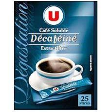 Cafe soluble decafeine extra filtre U, 25 sticks, 50g