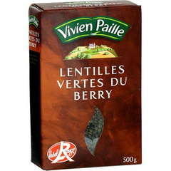 Lentilles vertes du Berry, label rouge