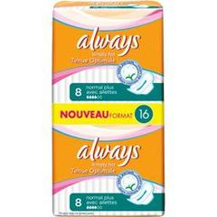 Always ultra simply fits normal plus serviette x16