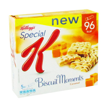Biscuits moments caramel SPECIAL K KELLOGG'S, 5x25g