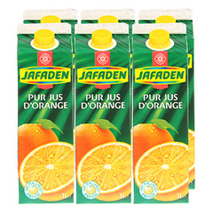 Jus d'orange Jafaden Pur 6x1l