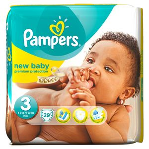 Pampers, Couches new baby, taille 3 : 4-9 kg, le paquet de 29