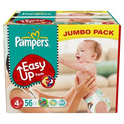 Pampers eausy up jumbo maxi x56 taille 4