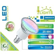 SPOT LED RAINBOW R50 HOMELIGHTS 1W E14 MULTICOLORE