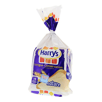 HARRYS PAIN LCGRANDES TRANCHES 550G