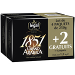 Cafe arabica 1851 Legal 4x250g