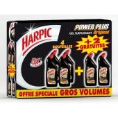 Harpic Gel Powerplus Micro Cristaux 750ml x4