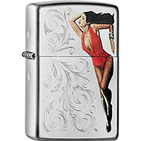 Zippo briquet 60.000.530 pin up with engrave, spring 2015 satiné