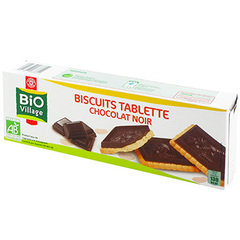 Biscuits tablettes Bio Village Chocolat noir 150g