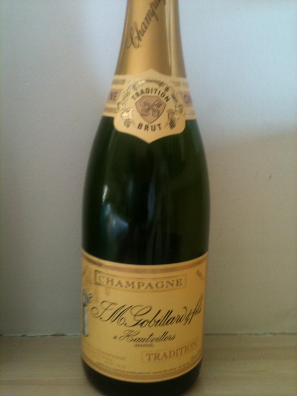 Champagne brut tradition gobillard 75cl