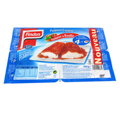Filets de poisson a la tomate et au basilic FINDUS, 600g