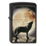 Zippo 2002434 Briquet Nr. 218 Wolf Howling to the Moon