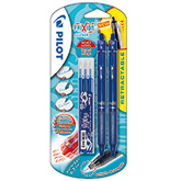 Stylo Roller Frixion ball bleu x2