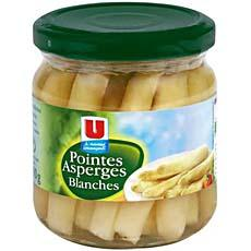 Pointes d'asperges blanches U, 110g