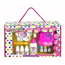 POP Diy Rainbow Coffret Manucure + Sèche-Ongles Pack de 4