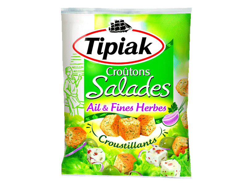 Croutons salades ail & fines herbes.