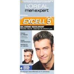 Gel creme colorant pour homme EXCELL 5, chatain profond naturel n°4