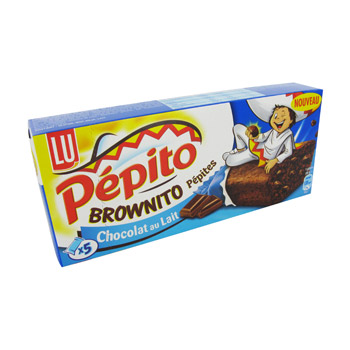Biscuits Pepito Lu Brownito Chocolat au lait 150g