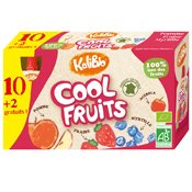 Vitabio Cool Fruits Gourdes Bio Pomme Fraise Myrtille 12 x 90 g - Lot de 2