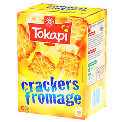 Biscuits Tokapi Crackers Fromage 100g