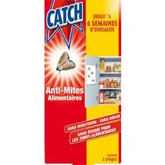 Pieges anti mites alimentaires CATCH, 2 unites