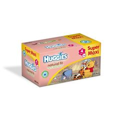 Huggies natural fit super maxi box drylock x104 taille4