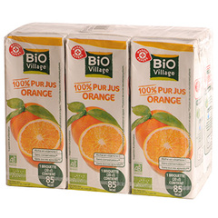 Jus d'orange Bio Village 6x20cl